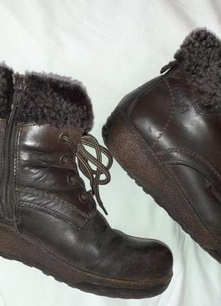 Ботинки dockers. германия. натуральная кожа нубук и мех.