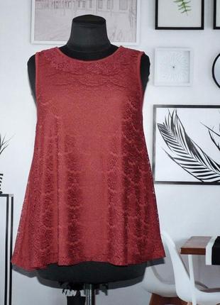 Блуза кружевная без рукавов select