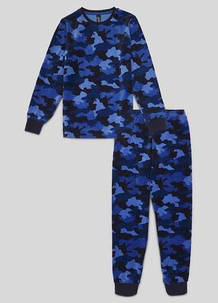 Фирменная велюровая пижама милитари