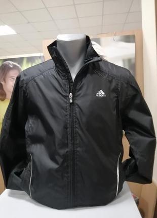 Супер, олимпийка черног цвета, плащевка, размер 50