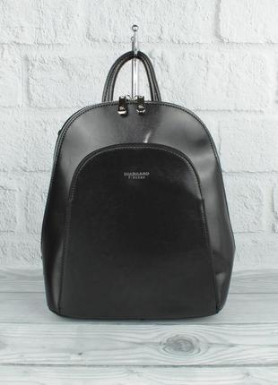 Стильный небольшой рюкзак-сумка diana firenze 1631-2 черный, трансформер (италия)