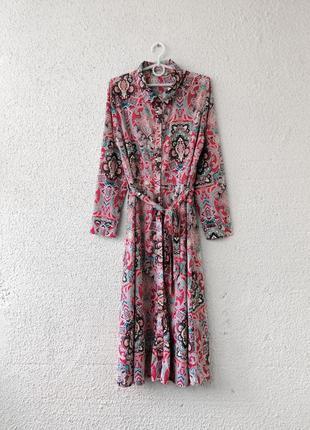 Винтажное платье миди