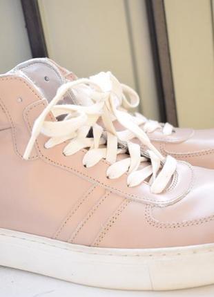 Кожаные кеды мокасины криперы ботинки демисезонные