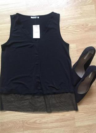 Новая фирменная чёрная блуза pull&bear, размер м