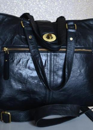 Bianco gear большая кожаная сумка ручная кладь дорожная