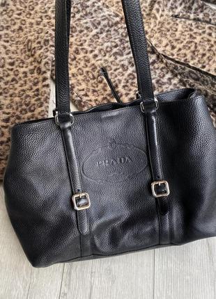 Кожаная сумка prada оригинал
