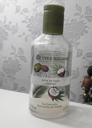 Туалетная вода кокосовый орех yves rocher