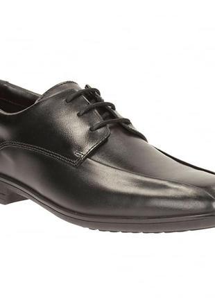Школьные кожаные туфли clarks для мальчика