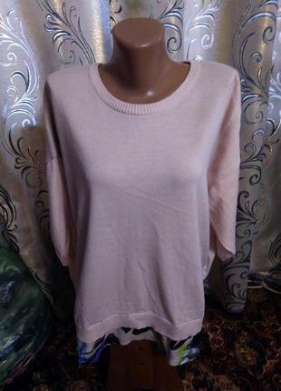 2-в-1 свитер + блуза на пышные формы anthology