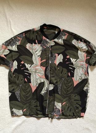 Рубашка на молнии (40 размер, можно носить как oversize)