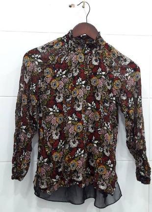 Красивая легкая шифоновая блуза от zara