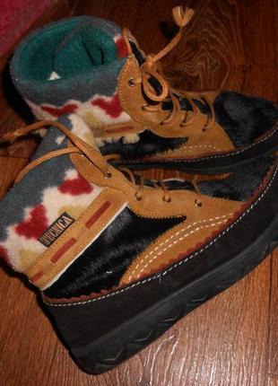 Итальянские кожаные ботинки 38.5 -39 р на стопу 24.5-25 см