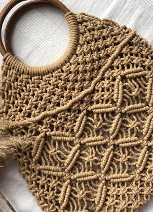 Трендова плетена сумка
