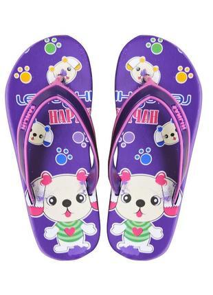 Вьетнамки bunny для девочки. фиолетовые.