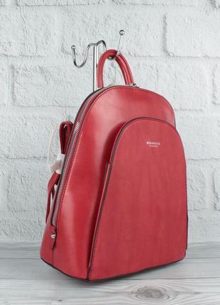 Стильный небольшой рюкзак-сумка diana firenze 1631-2 красный, трансформер (италия)