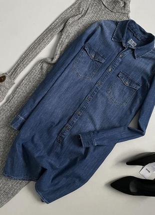 Трендовое джинсовое платье рубашка zara