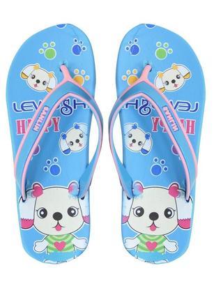 Вьетнамки bunny для девочки. голубые.