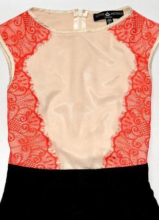 Шикарное платье с красивым верхом и шифоновой юбкой. хс. 4. 36