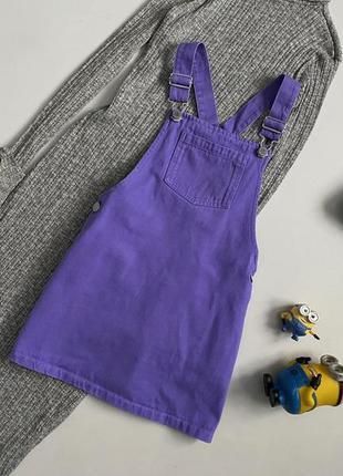 Милейший джинсовый комбинезон , юбка , сарафан 7 лет next