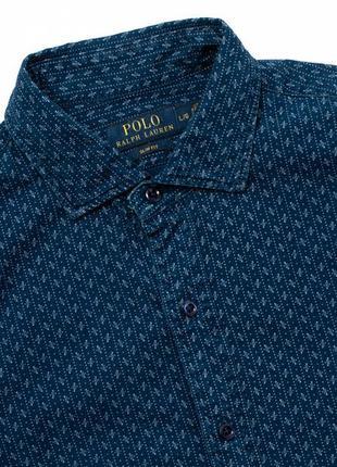 Polo ralph lauren slim fit мужская рубашка