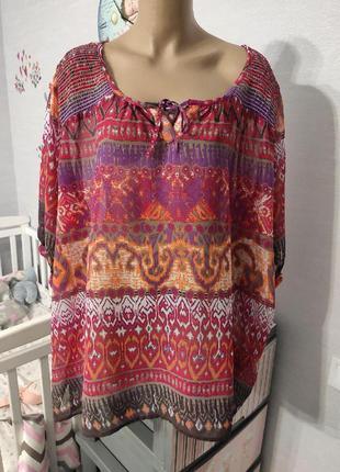 Красивенная шифоновая блуза размер 30/32 yessica