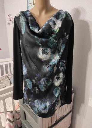 Красивенная блуза с акварельным принтом, размер наш 52/54