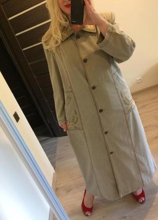 Распродажа плотное котоновое вышитое винтажное платье