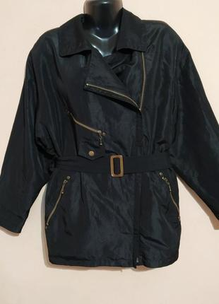 Куртка-косуха, плащевка, демисезонная, легкая, большой размер.