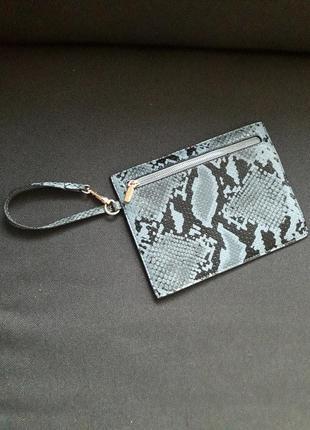 New look клатч сумочка маленькая змеиный принт тренд сезона