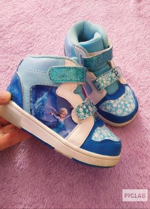 Хайтопы высокие кроссовки ботинки frozen со светодиодами