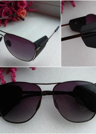 Новые крутые очки с боковой защитой, унисекс, черные