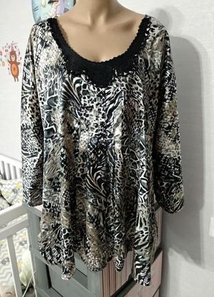 Блуза из атласного трикотажа от takko fashion, размер 16/18