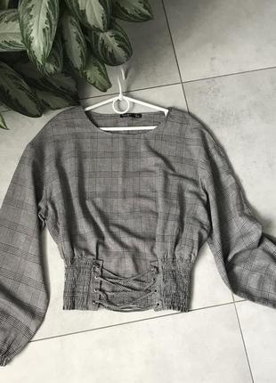 Оригинальная клетчатая блузка от bershka