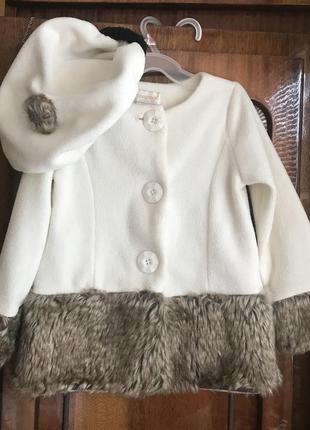 Комплект пальто з беретом 2t