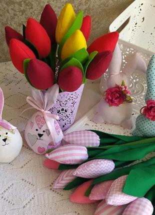 Текстильні тюльпани / тюльпаны интерьерные