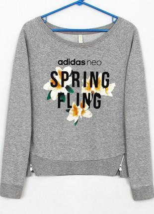 Женская кофта джемпер свитшот реглан adidas