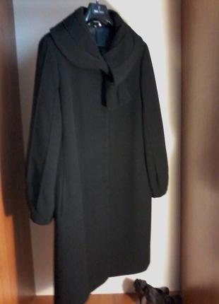 Итальянское дизайнерское шерстяное с кашемиром пальто трапеция stella polare