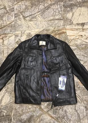 Кожаная мужская куртка