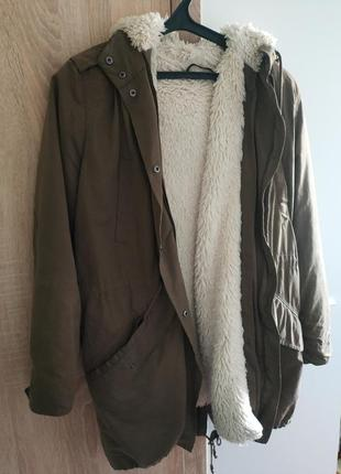 Куртка парка мех капюшон пальто fishtail