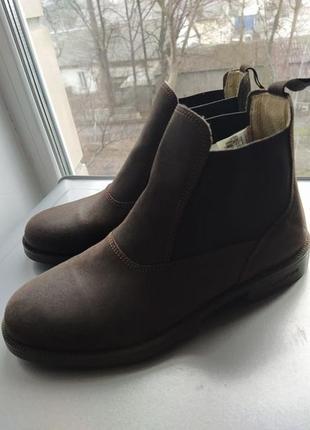 Кожаные ботинки челси