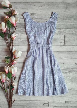 Нежное легкое платье с красивой спинкой tally weijl