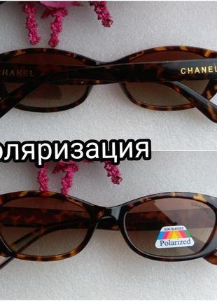 Новые брендовые очки с поляризацией, коричневые
