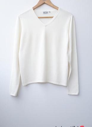 Молочный джемпер красивый джемпер  базовый джемпер шерстяной свитер