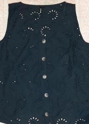 Блуза из прошвы м