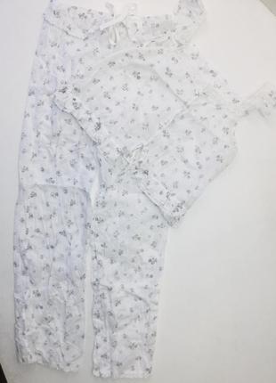 Котоновая пижамка с кружевом