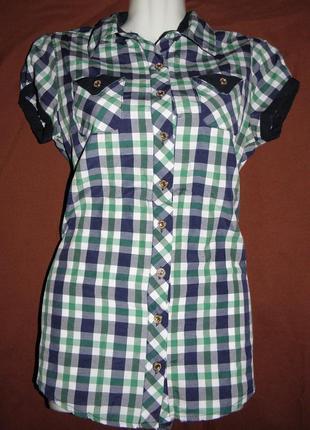 Блузка клетчатая рубаха