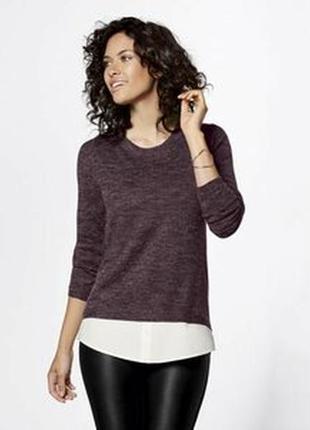 Джемпер свитер с блузой обманкой esmara германия