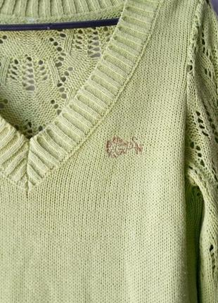 Ажурный легкий вязаный джемпер свитер пуловер