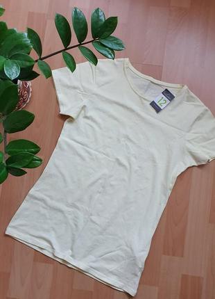 Новая, лимонного оттенка футболочка р.46-48