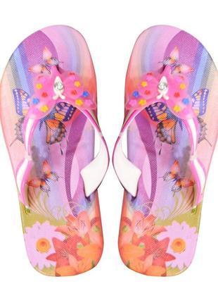 Вьетнамки для девочки butterfly. розовые.